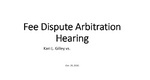 Sample fee dispute aribration report thumbnail