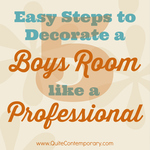 5 easy steps boys room