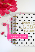 Blog graphic financial goals workbook