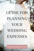 Guide for planning wedding expenses