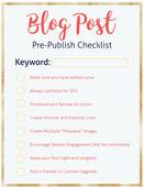 Blog post tips pre publishcheck list