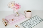 Fempreneur styled stock pink peonies photography bundle 24