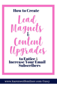 Lead magnets   content upgrades pinterest graphic