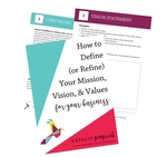 Define mission vision values