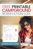 Campground reservation log pin