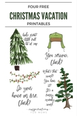 Four free christmas vacation printables