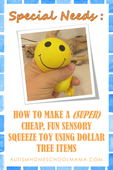 How to make a calm down box inexpensive cheap autism sensory bead stress ball tutorial
