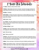 2 year old schedule