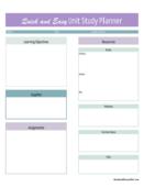 Unit study planner 12