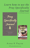 Learn how to use the pray specifically journal