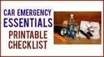 Car emergency essentials printable checklist 200x111