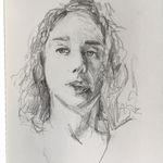 Working on my altered book self portrait  arteveryday  drawsomething  practicenotperfection