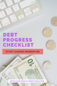 Debt progress pinterest