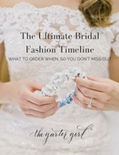 Ultimate bridal fashion timeline the garter girl