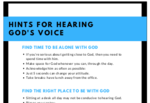 Hints to hear god's voice cover