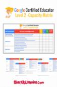 Copy of google certified educator level 2 capacity matrix 2