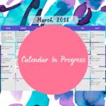March calendar in progress