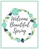 Welcome beautiful spring printable200x160