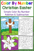 christian easter color by number worksheets mamas learning corner. Black Bedroom Furniture Sets. Home Design Ideas