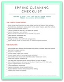Spring cleaning checklist 450