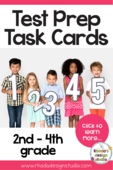 Math test prep task cards rhoda