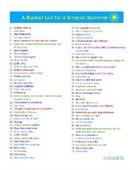 Summer bucket list small
