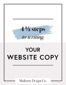 Cover page writing your website copy   mulberry design co