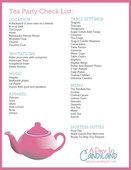 Tea party checklist preview