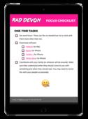 Focus checklist mockup