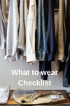 What to wear checklist image
