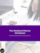 Cover page for the weekend planner