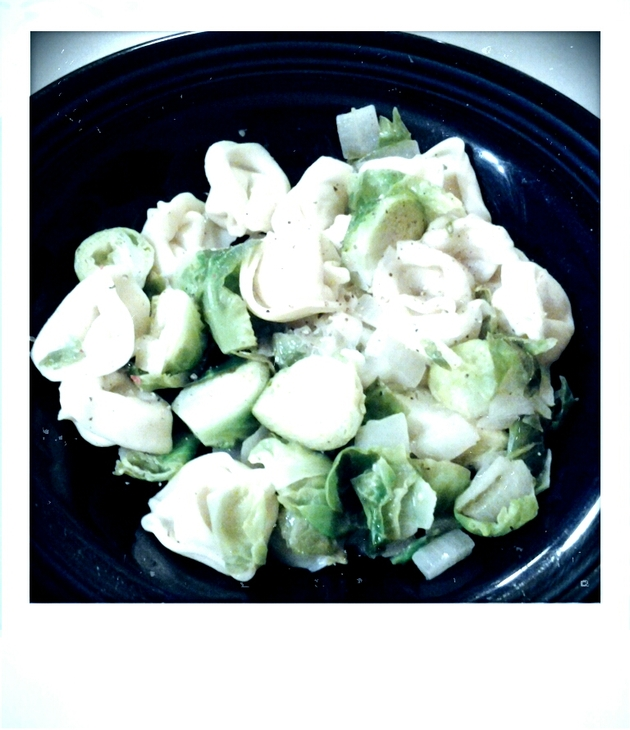 Tortellini with Lemon and Brussels Sprouts by alchemisty