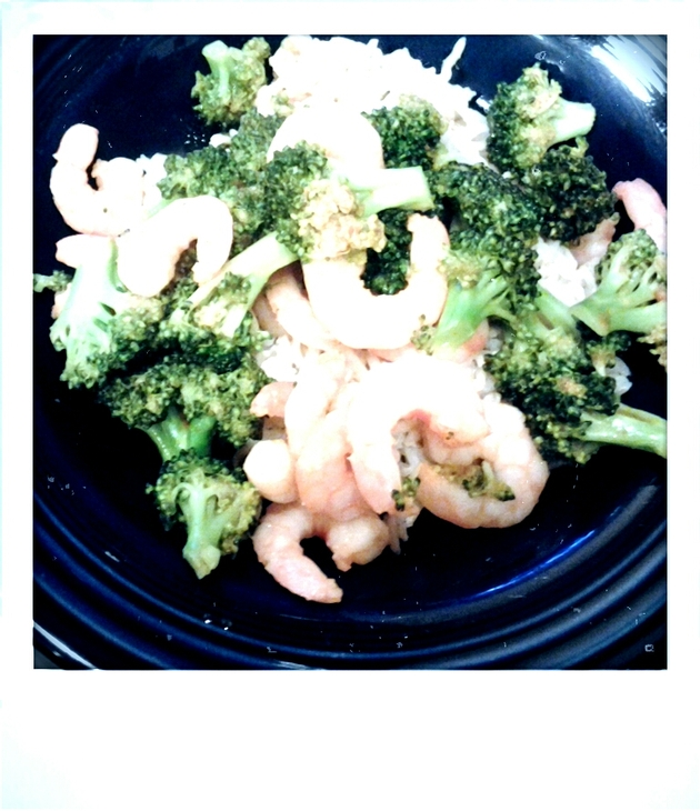 Spicy Broccoli with Shrimp by alchemisty