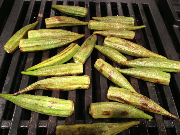 grilled okra by joanie