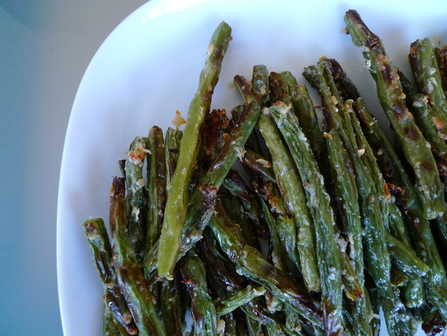 parmesan green beans by joanie