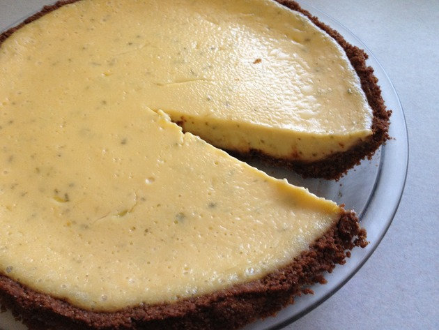 Lime Pie with Gingersnap Crust by car2ngrl