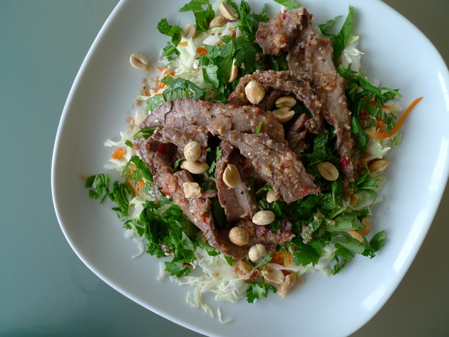 thai beef salad by joanie