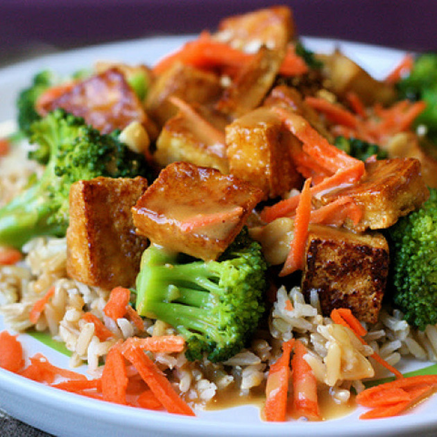 Broccoli Tofu Stir Fry with Mirin/Soy Sauce by dara