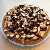 Candy Bar Pie with a Pretzel Crust by car2ngrl