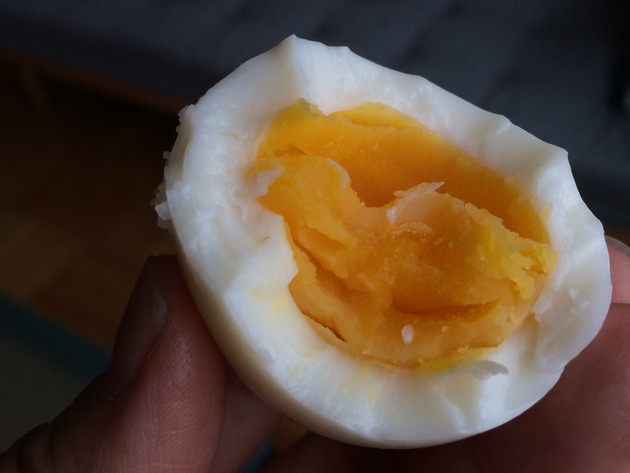 hardly boiled eggs by joanie