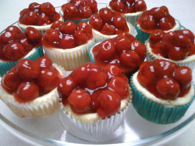 Mini Cherry Cheesecakes by car2ngrl