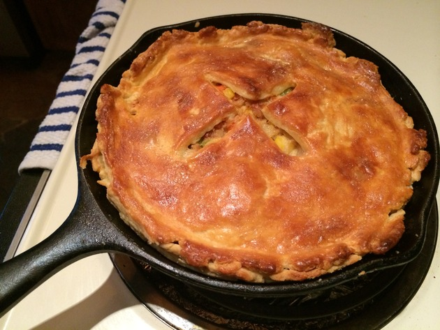 skillet pot pie by joanie