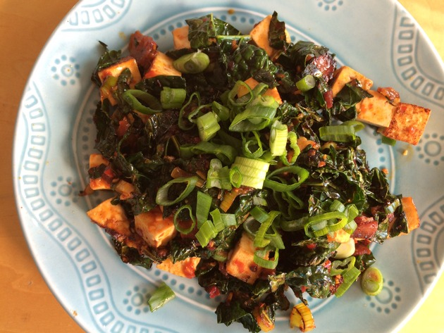 easy mapo with kale (faux-po) by joanie
