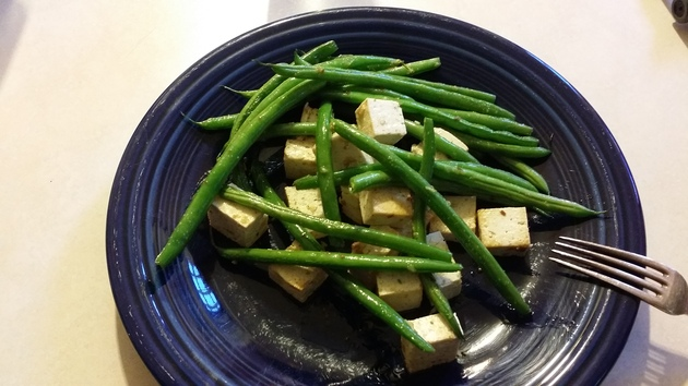 Szechuan green beans with tofu by alchemisty