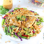 Chicken Satay Zoodle Salad by TasteAndSee