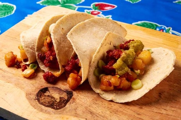 Potato and Chorizo Tacos by MexFoodJournal