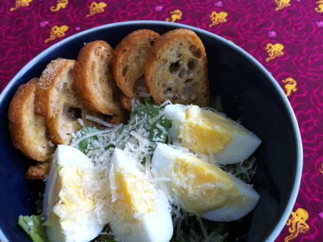 Caesar Salad With Hard-Cooked Eggs by belinda