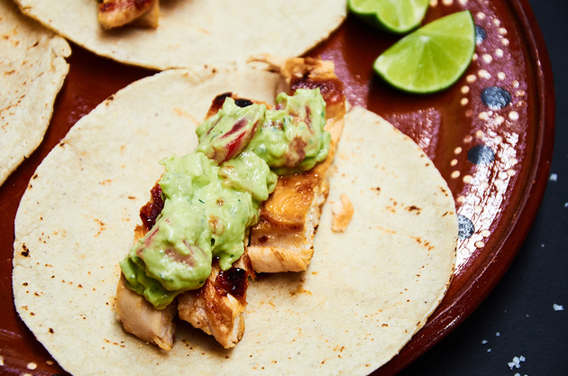 Chicken Tacos with Avocado Salsa by MexFoodJournal