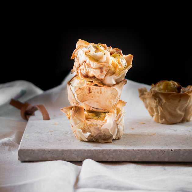 Mini Quiches made with Filo Pastry by Blogtastic Food