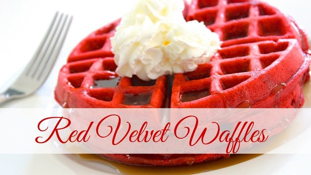 Red Velvet Waffles Recipe At Harsha by harsha Enterprises